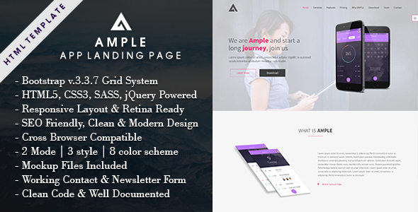 AMPLE - All In One App Landing Page