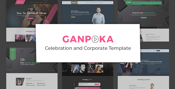 Ganpoka - Celebration and Corporate PSD Template