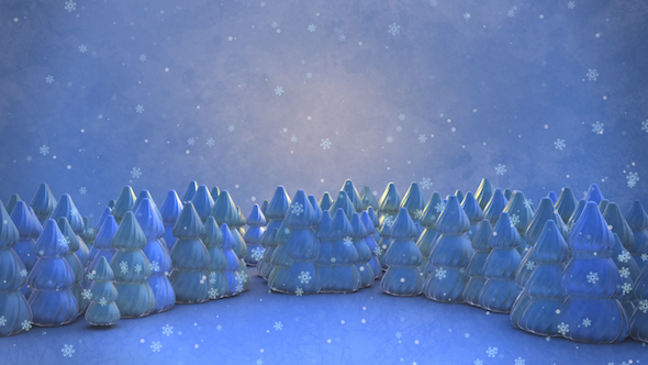 Download 3D Winter Forest And Snowflakes nulled download