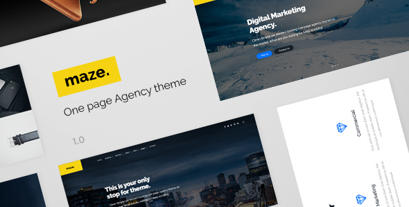 Maze Agency - One Page Agency PSD Template
