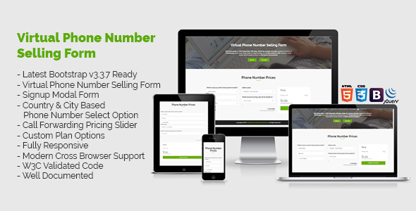 Download Virtual Phone Number Pricing Selling Form nulled download