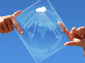 Futuristic Tablet Cloud - PhotoDune Item for Sale