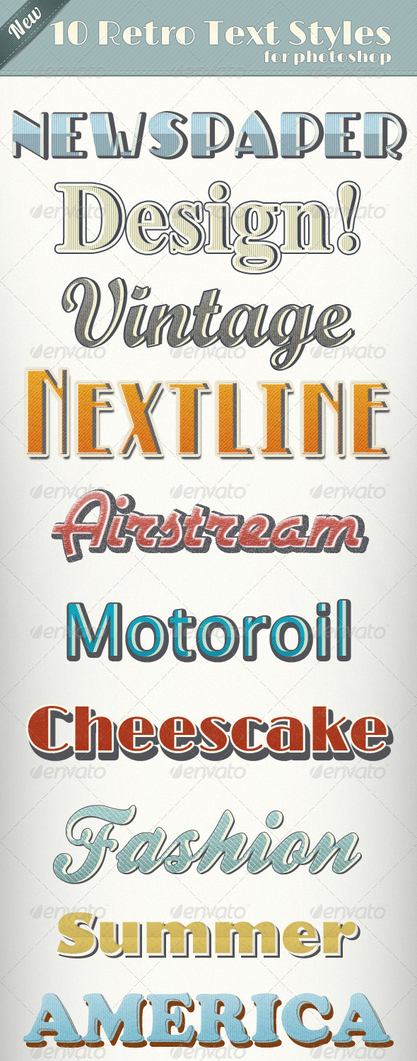 Vintage Retro Text Styles  - Text Effects Styles