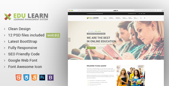 EduLearn – Education, College &amp Courses Joomla Template (Joomla)