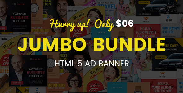 Jumbo HTML5 AD Banner Template 01 (Ad Templates)