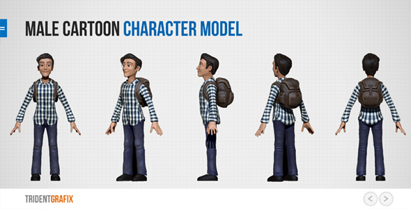 Male Cartoon Character Model - 3DOcean Item for Sale