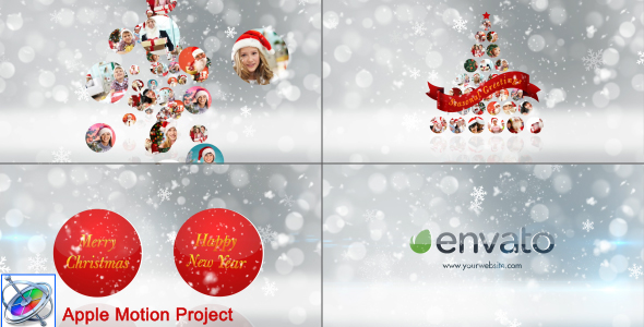 VideoHive Christmas Wishes Opener Multi Video Image Apple Motion 18955707