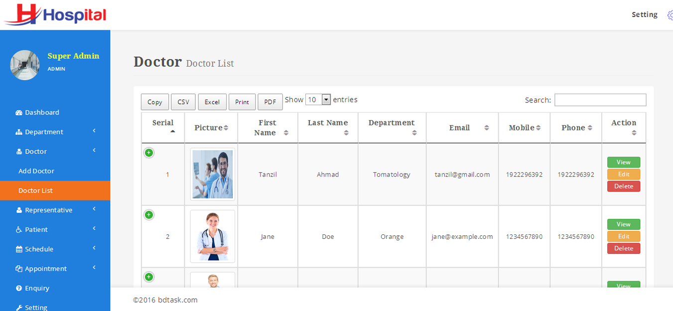 Hospital – Hospital Management System with Website by