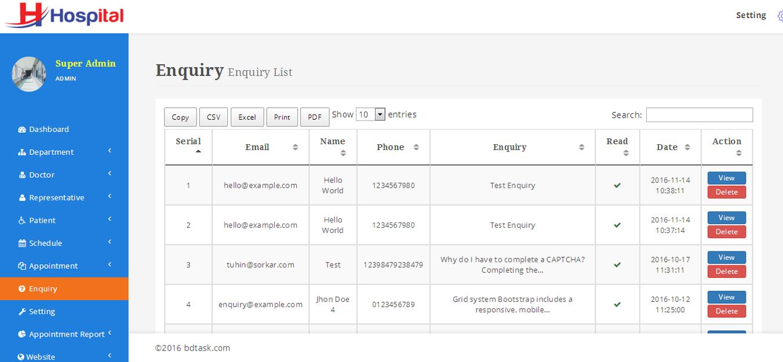 hospital  u2013 hospital management system with website by
