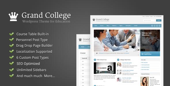 Grand College - WordPress Theme For Education - Education WordPress