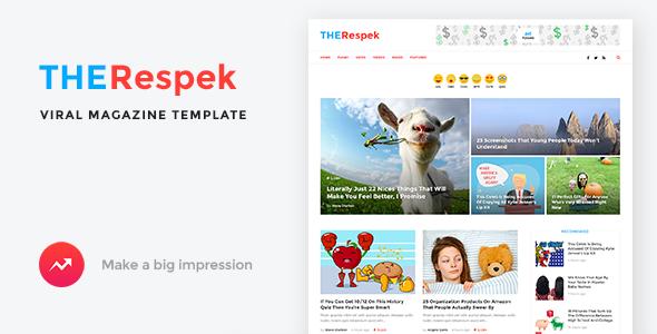 TheRespek - Viral Magazine Template