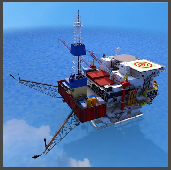 Oil Platform - 3DOcean Item for Sale