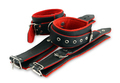Leather cuffs for hands and legs for erotic games