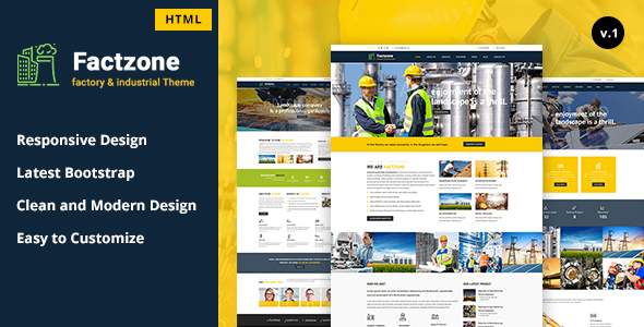 Download FactZone - Factory & Industrial Business Template