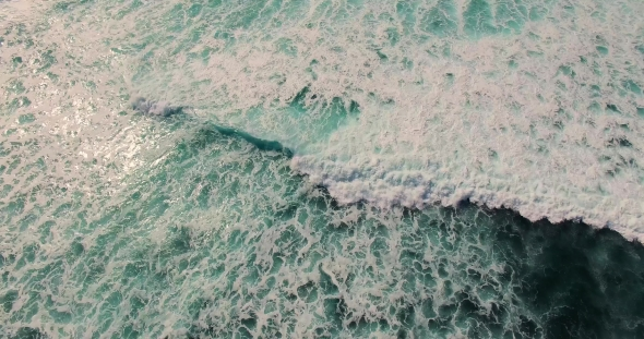 VideoHive Aerial Footage of Incredible Ocean Waves 18956419