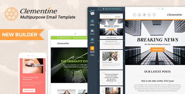 clementine responsive email templates builder by mailsalad themeforest. Black Bedroom Furniture Sets. Home Design Ideas