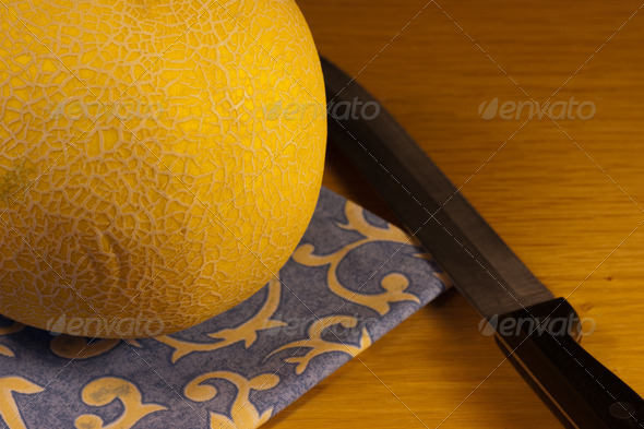 Fresh Juicy Melon - Stock Photo - Images