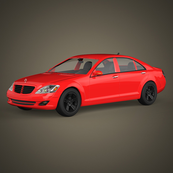 Mercedes S Class Car - 3DOcean Item for Sale