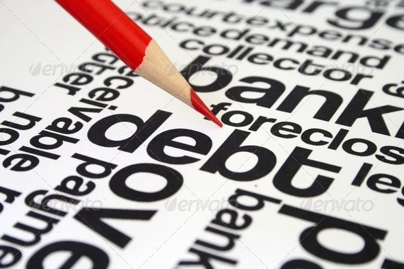 Debt word cloud - Stock Photo - Images