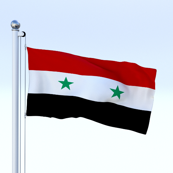 Animated Syria Flag - 3DOcean Item for Sale