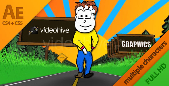 After Effects Project - VideoHive Toon Roadside Adventure 1866008