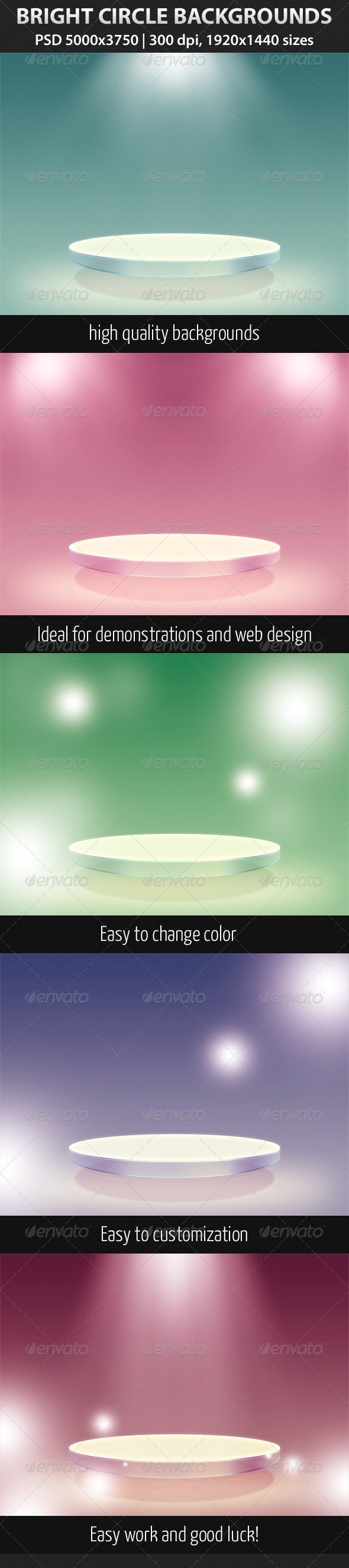GraphicRiver Bright Circle Backgrounds 1866096
