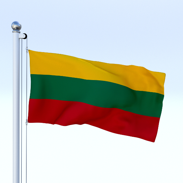 Animated Lithuania Flag - 3DOcean Item for Sale