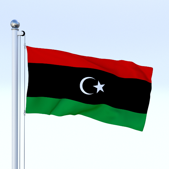 Animated Libya Flag - 3DOcean Item for Sale