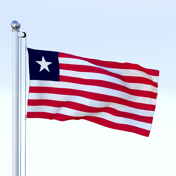 Animated Liberia Flag - 3DOcean Item for Sale