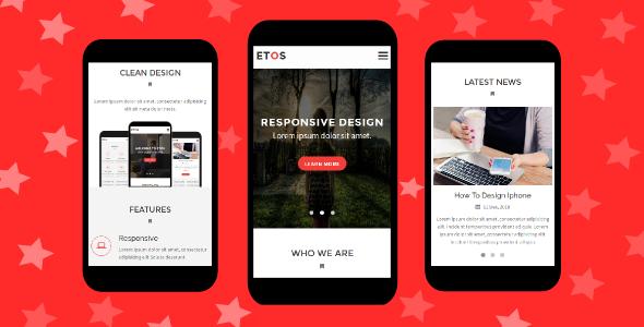 Etos - Responsive Mobile Template