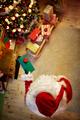 Santa Claus brings Christmas presents