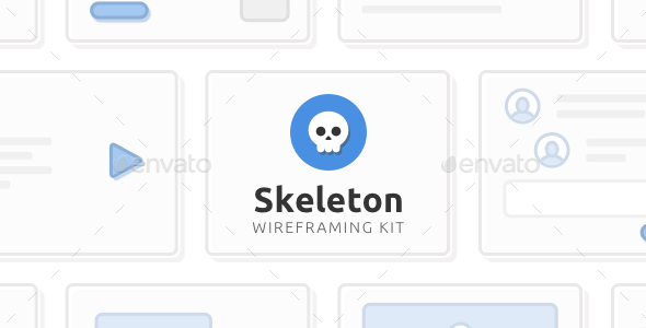 Skeleton Wireframing Kit — 120+ Components for Photoshop (User Interfaces)
