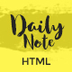 Daily Note - Creative and Responsive Blog Template