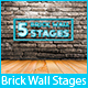 5 Brick Wall Stage Backgrounds