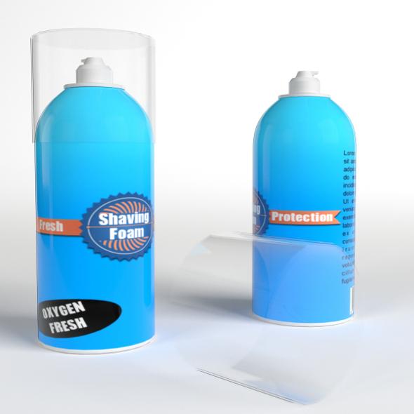 Shaving Foam Bottles - 3DOcean Item for Sale