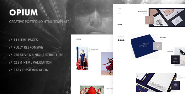 Opium - Creative Photography, Portfolio HTML Template