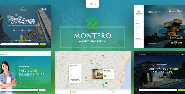 Montero – Real Estate & Property PSD Template