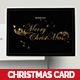 Gold Foil Christmas Dinner Invitation & Greeting