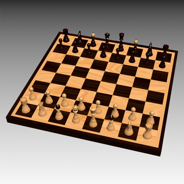 A chess set - 3DOcean Item for Sale