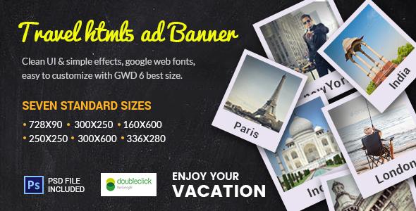 GWD  | Travel Destination HTML Banner 03
