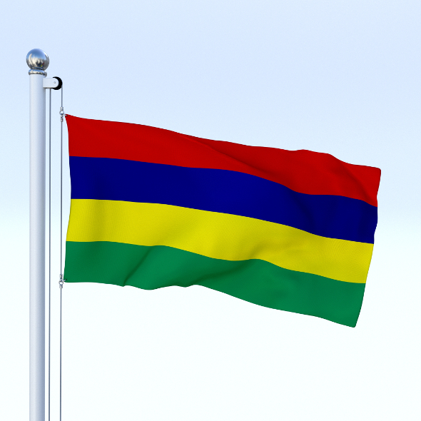 Animated Mauritius Flag - 3DOcean Item for Sale