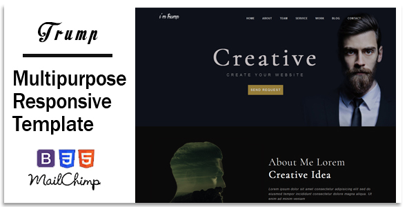 Download Trump - Responsive Corporate, Business, Creative , Portfolio & Blog Template