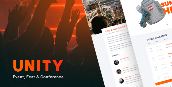 Unity – Event, Fest & Conference HTML Template