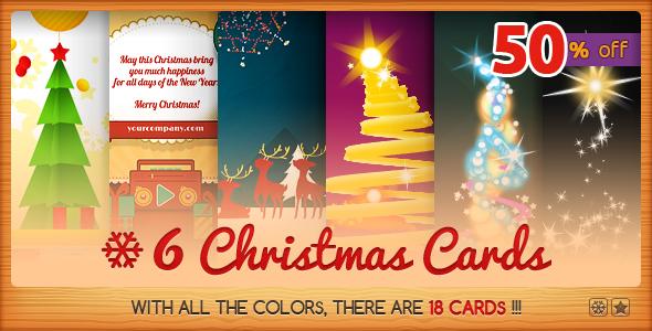 Six Christmas Cards Bundle 2