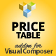 Price Table Monthly & Yearly Addon for Visual Composer