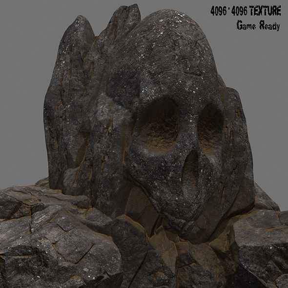 skull rock 4 - 3DOcean Item for Sale