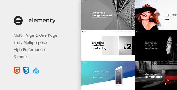Elementy - Multipurpose One & Multi Page Drupal 8 Theme