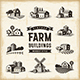 Vintage Farm Buildings Set