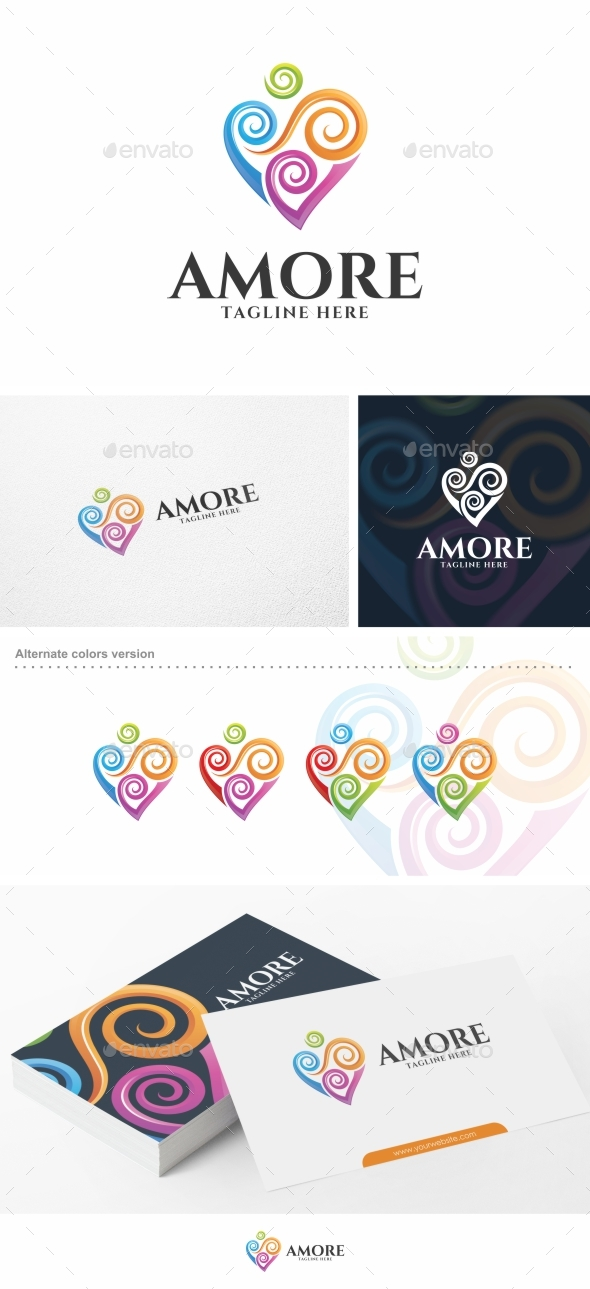Amore / Heart - Logo Template