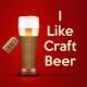 Vector Illustration I Like Craft Beer